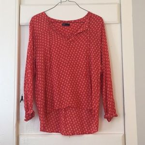 Gap patterned long sleeve tunic
